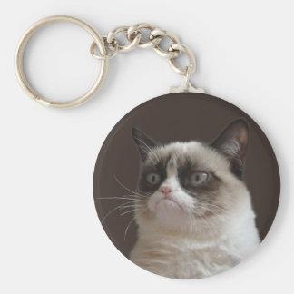 Chat grincheux - le porte - clé grincheux de porte-clés
