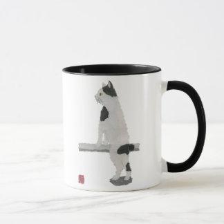 Chat japonais de queue écourtée mug
