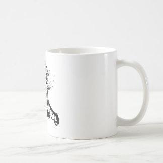 chat jouant au golf drôle mug blanc