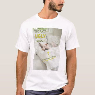 Chat laid effrayant t-shirt