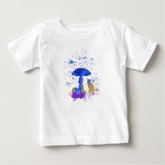 chat lunatique t-shirt pour bébé