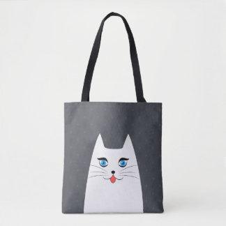 Chat mignon avec la langue collant tote bag