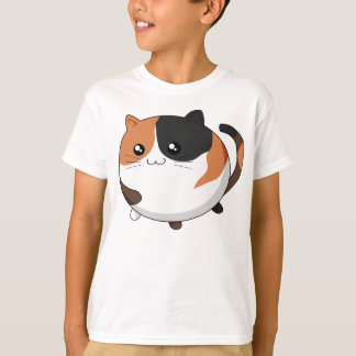Chat mignon de minou de calicot de Kawaii T-shirt