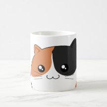 Chat mignon de minou de calicot de Kawaii Tasse À Café