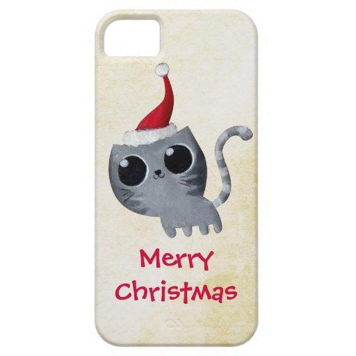 Chat mignon de Noël de Kawaii Coque Case-Mate iPhone 5