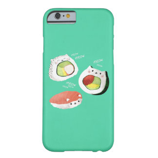 Chat mignon de sushi coque iPhone 6 barely there