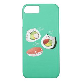 Chat mignon de sushi coque iPhone 7