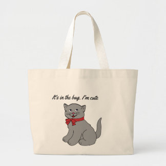 Chat mignon grand sac