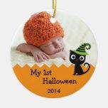 Chat mignon mon ęr ornement de Halloween
