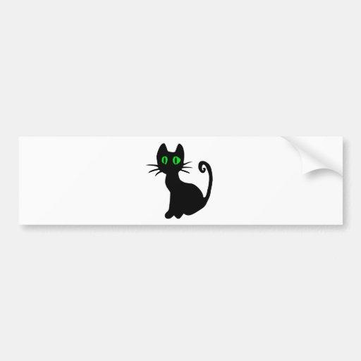 Chat noir adhésif pour voiture