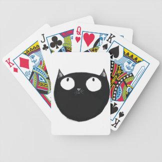 Chat noir chanceux jeu de cartes