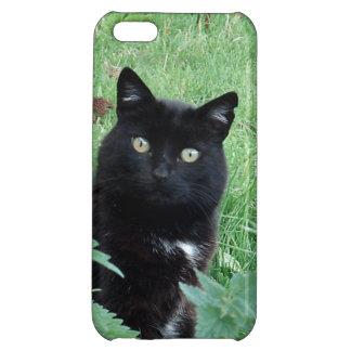 Chat noir chanceux mignon sur le cas de l'iPhone 5 Étuis iPhone 5C
