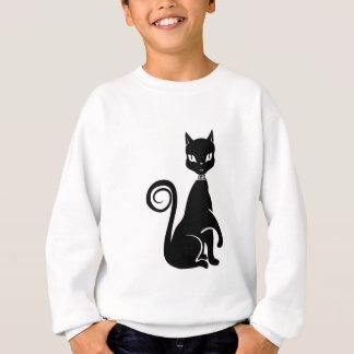 Chat noir de vecteur sweatshirt
