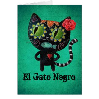 Chat noir des morts cartes