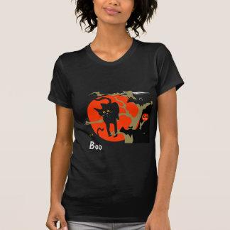 Chat noir et chemise de Halloween de battes ! T-shirt