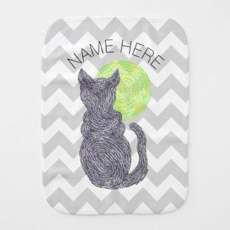 Chat noir et l'amoureux des chats Chevron de Z de Linges De Bébé