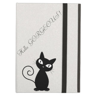 Chat noir lunatique original Scintillant-Bonjour