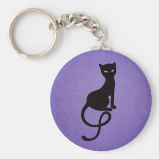 Chat noir mauvais aimable pourpre