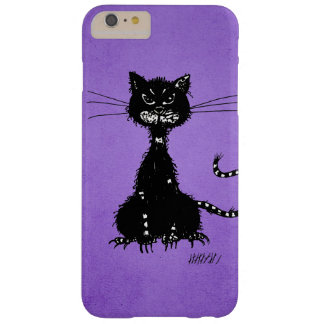 Chat noir mauvais en lambeaux pourpre coque iPhone 6 plus barely there