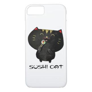 Chat noir mignon de sushi de Kawaii Coque iPhone 7