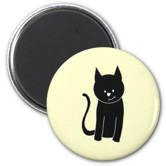 Chat noir mignon magnets pour réfrigérateur