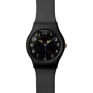 Chat noir montres cadran