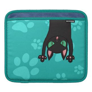Chat noir sautant poches iPad