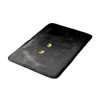 Chat noir tapis de bain