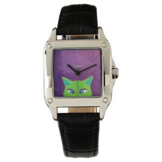 Chat observé par croix pour des grippages montres bracelet