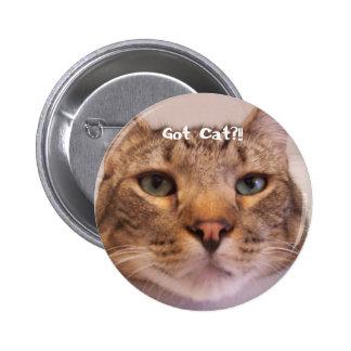Chat obtenu pin's avec agrafe