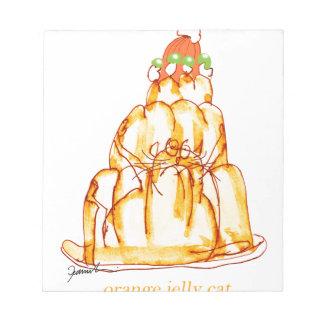 chat orange de la gelée des fernandes élégants blocs notes