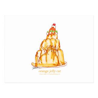 chat orange de la gelée des fernandes élégants cartes postales