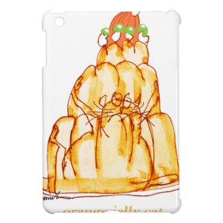 chat orange de la gelée des fernandes élégants coque pour iPad mini