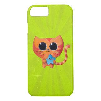 Chat orange mignon avec l'étoile coque iPhone 7