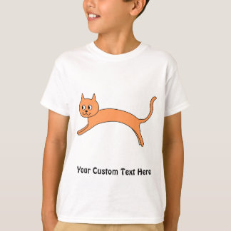 Chat orange sautant t-shirt