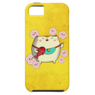 Chat rond mignon de Maneki Neko Coques Case-Mate iPhone 5
