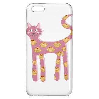 Chat rose de Kawaii avec le motif de tarte Coques iPhone 5C