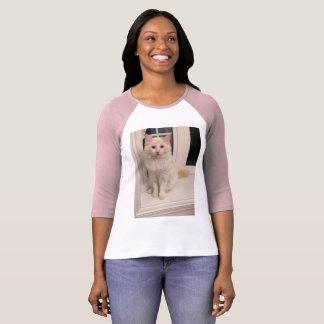 Chat rouge de Ragdoll de point - se reposant assez T-shirt