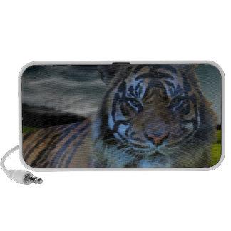 Chat sauvage sauvage d'aquarelle de tigre haut-parleur