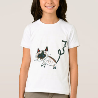 Chat siamois de bonsaïs t-shirt