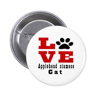 Chat siamois Designes d'Applehead d'amour Pin's