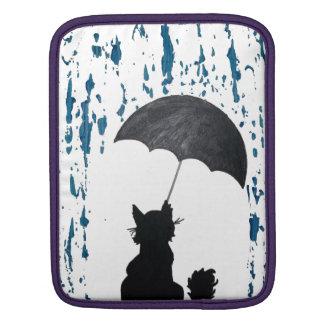 Chat sous le parapluie housse iPad