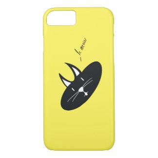 Chat sur (la couleur est personnalisable) la coque iPhone 7