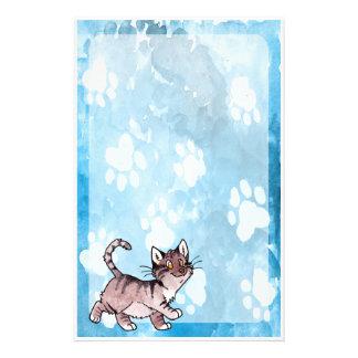 Chat tigré Kitty de Brown Papier À Lettre Customisé