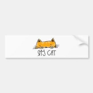 chat timide autocollant de voiture