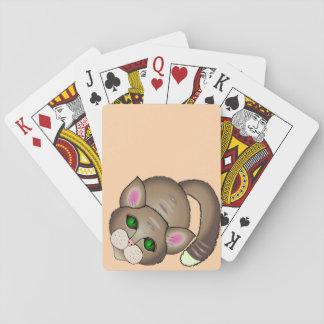 Chat triste jeu de cartes