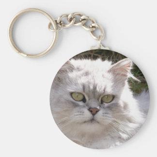Chat (va-nu-pieds) porte-clé rond