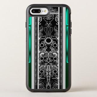 Chat vert de rouleau coque otterbox symmetry pour iPhone 7 plus