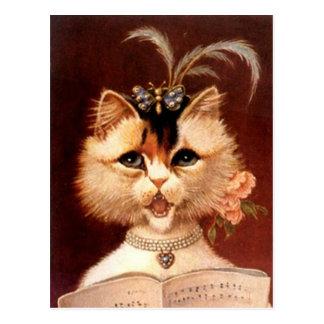 Chat victorien vintage de Partor en carte postale