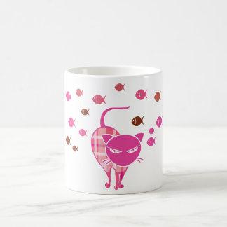 Chat vilain mug